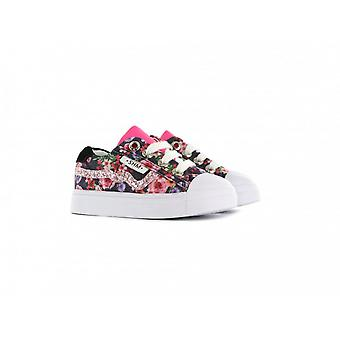 SHOESME Laced Zipped Trainer Blue Floral
