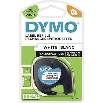 DYMO 91221 pakkaus nauhan väri: Oyster White fontin väri: musta 12 mm 4 m