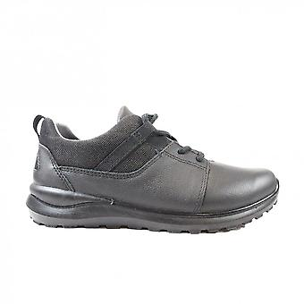 Ricosta David Black Leather Boys Lace Up School Shoes