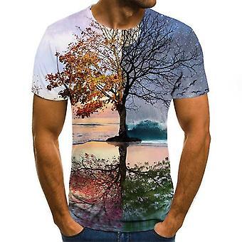 Painettu 3d T-paita