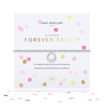 Joma Jewellery Confetti A Little Forever Family Silver 17.5cm Stretch Bracelet 4341