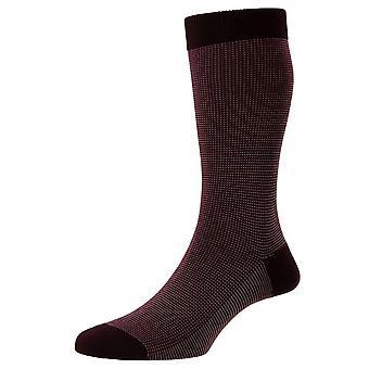 Pantherella Tewkesbury Cotton Fil D'Ecosse Socks - Borgonha