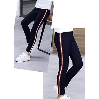 Lente, Herfst, Kids Leggings, Side Striped, Elasticity Pants Broek