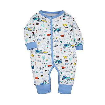 Baby Romper With Tractor Pattern