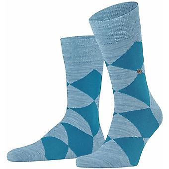 Burlington Multi-colour Clyde Socks - Pastel Blue