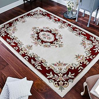 Koninklijke Aubusson tapijten In rode crème