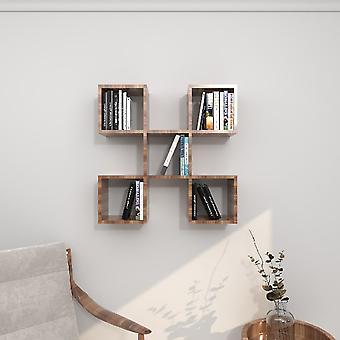 Spider Wenge Color Shelf; i Melamine Chipboard, L70xP20xA70 cm