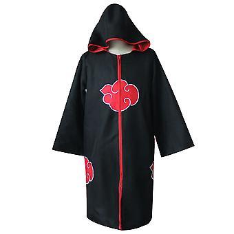 Naruto Unisex Akatsuki Cloud Cosplay Costume Uniform Cloak Hooded Robe Outerwear