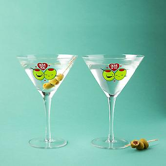 BigMouth Inc. 'Olive You' Martini Glass Set Of 2
