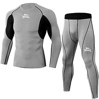 High Quality Compression Men's Sport Suits Quick Dry Running Sets