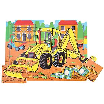 Bigjigs Toys Wooden 9 Piece Tray Puzzle Digger