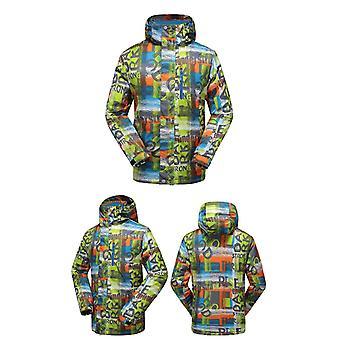 Men Winter Camping Thicken Breathable, Outdoor Waterproof Ski Jacket