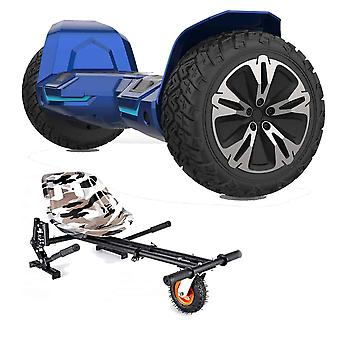 "NEW - 8.5"" G2 PRO Monster Blue All Terrain Bluetooth Segway Hoverboard with a FREE Monster Kart (Choose Colour Kart: Camo)"