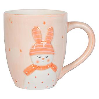 Easter Bunny Mug Hand Painted Buffet Party Serveware Tableware 9.5cm White