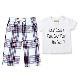 Kinder Beste Cousin e ever Tartan Hose Pyjamas