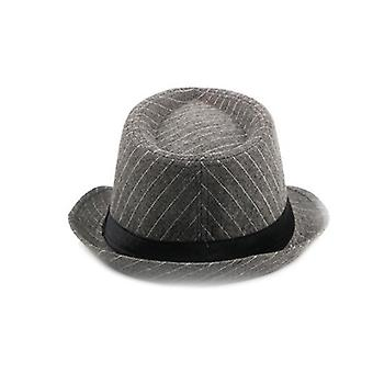 3 Colors Unisex Classic 20s Manhattan Woolen Cotton Fedora Hat With Band Casual Jazz Wool Cap