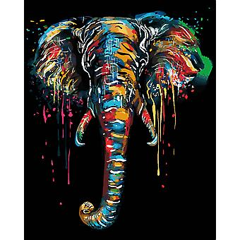 Diy Oil Colorful Animals Painting, Frame For Adults Acrylic Paint