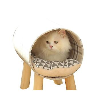 Cat Hammock Bed, Elevated Pet Bed Breathable Hanging Nest With Detachable Cover