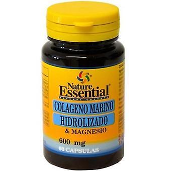 Nature Essential Hydrolyzed Marine Collagen + Magnesium 600 mg 60 Kapseln