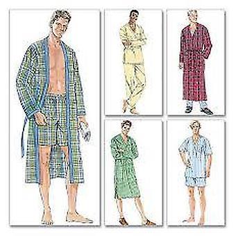 McCalls Schnittmuster 6231 Herren Sleepwear Robe Top Hose Größe S-L