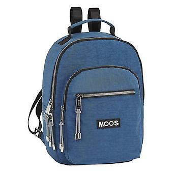 Casual Backpack Moos Jeans Navy Blue