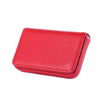 1pc New Year Pocket Pu Leather Business Id Credit Card Holder Case