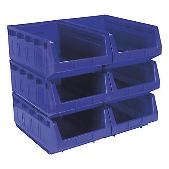 Tps56B سالي تخزين البلاستيك بن 310 × 500 × 190 مم--الأزرق حزمة من 6