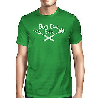 Beste Bbq Papa grün Grafik T-shirt