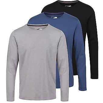 Regata Profissional Mens Essentials 3 Pack LS T Shirt