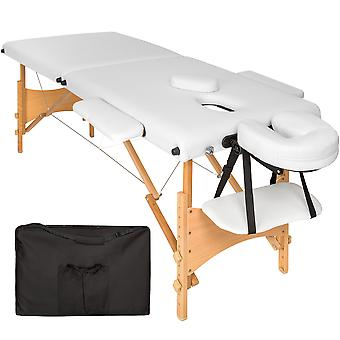 tectake Massagebriks med 2 zoner, 5cm polstring + taske - hvid