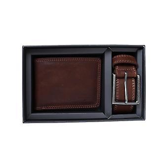 Geschenk-Box Brieftasche + Gürtel