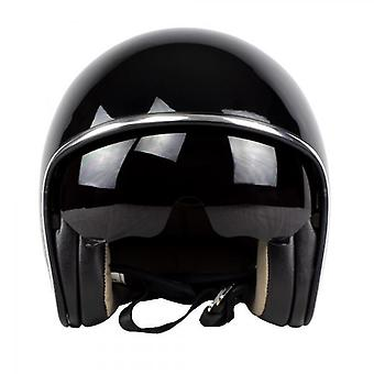 Nitro X582 Uno Open Face Motorcycle Helmet Black Gloss