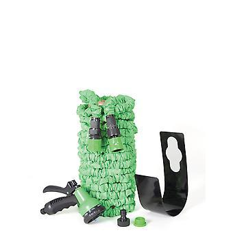 PMS Expandable Garden Hose 100 foot/30m. Garden Hose Spray Gun with 7 Spray Settings. High Pressure Hose