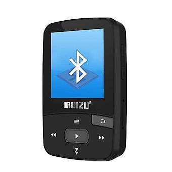 Bluetooth MP3 Player 8gb Clip mit ScreenFM(Schwarz)