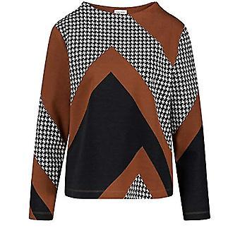 Gerry Weber T-Shirt 1/1 Arm, Black/Cream/Hazelnut, 48 Woman