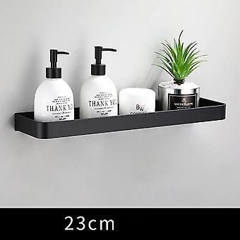 Salle de bain Étagère Baignoire Douche Étagère Aluminium Noir Salle de bain Coin étagère Murale Montée