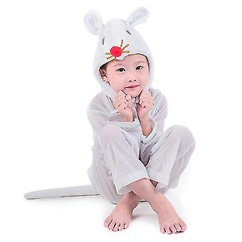 3Xl (160cm) white mouse long cosplay suit costume stage clothes holiday clothes cai501