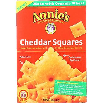 Annie's Homegrown Cracker Square Cheddar, Case of 12 X 7.5 Oz