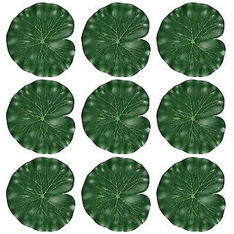 Tinksky 10st 18cm Hög Simulering Lotus Lämnar Flytande Pool Decoration Vatten Dekorativt Akvarium FiskDamm Landskap Lotus Löv (grön)