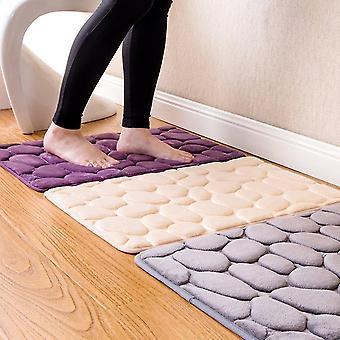 Skridsikker 3d Brosten Solid Color Home Badeværelse Tæppe Gulv måtter