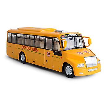 1:32 אוטובוס בית הספר קול ואור למשוך בחזרה את סגסוגת ילדים & דגם מכונית צעצוע