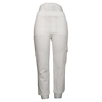 Susan Graver Women's Pants (XXS) Premium Stretch Crop White A394033