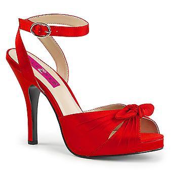 Pleaser Naiset's Kengät Vaaleanpunainen Punainen Satiini