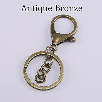 5kpl / erä avainrengas 30mm avaimenperä pitkä 70mm hummeri lukko avain koukku avaimenperät koruja löytää diy avainketjut tarvikkeet