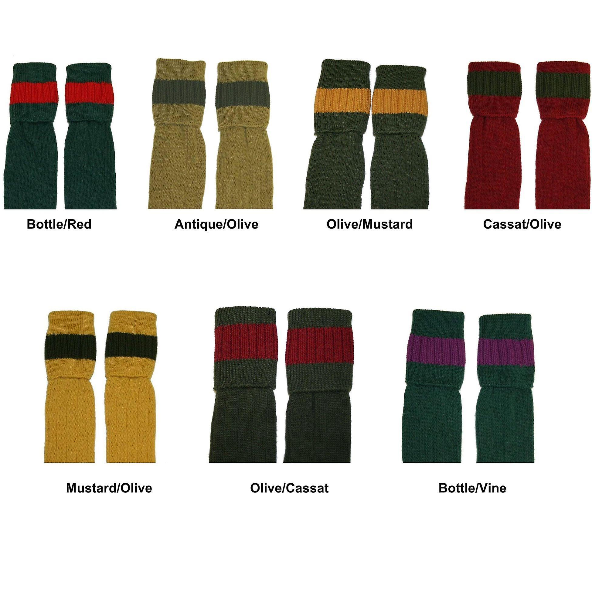Bisley schießen Socken - warme Wolle gepolstert Fuß traditionelle Jagd Strümpfe