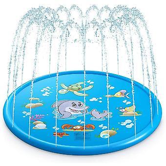 Splash Pad, Sprinkler Play Matte 68in/170cm, Wasserspielmatte Garten - Perfektes Sommer Garten