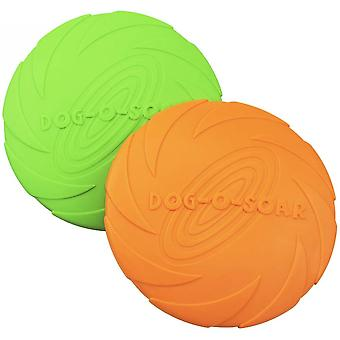 Frisbee For Dogs 2 Pcs Dog Frisbee Soft Natural Rubber Disc per safety dog flying disc toy per il volo all'aperto