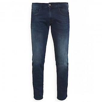 Replay Anbass Power Stretch Mid Blue Denim Jeans M914Y 41A 90A 007