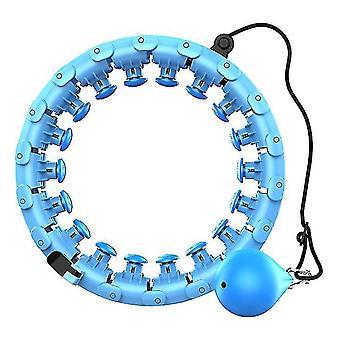 Kuntoharjoittelu Smart hula Vanne irrotettavalla, säädettävällä automaattisella pyörivällä pallolla (sininen)