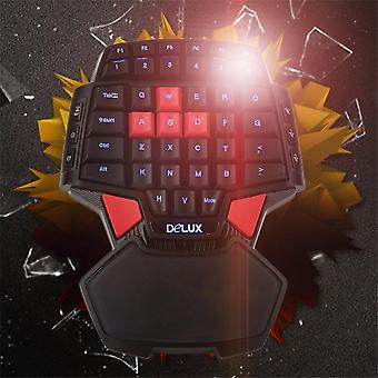 T9 Usb Wired Gaming Keyboard Double Space Key Led Backlight One/single Hand